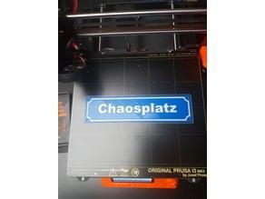 Chaosplatz Straßenschild / Roadsign
