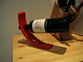 Curved Wine Holder (w/ bottle cutout)
