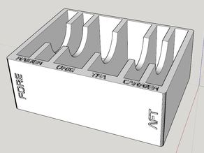 X-Wing Miniatures - Toolbox Bin for Imperial Damage Decks