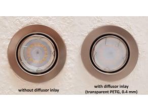 LED Recessed Spot Diffusor Inlay