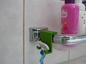 Razor holder/hanger for bathtub soap dish (Gilette Venus)