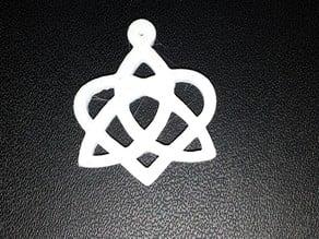 Pendant - Celtic Trinity Heart