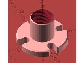 Customizable Leadscrew Flange Metric