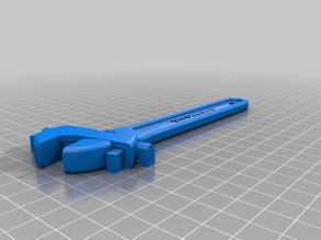 Fully assembled 3D printable wrench (With mouse ear at the centre hole)