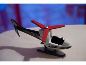Fake propeller for Playmobil helicopter repair