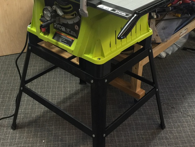Ryobi Table Saw Height Adjustment Block By Elproducts Thingiverse