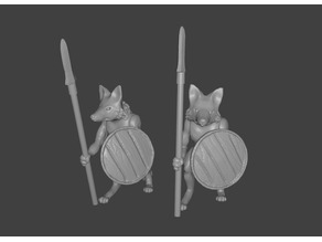 Foxmen: Foxman Warrior Miniatures