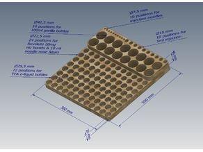 Vape DIY TFA E-Liquid - Nic - Bottles - Injection - Needles Organiser (Large size (Step file included))