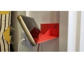 Phone wall angle mount