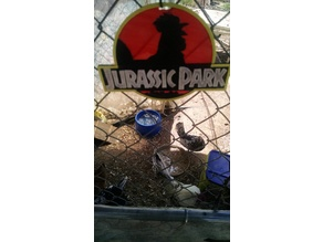 4 Color Jurassic Park Chicken sign