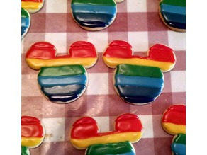 Rainbow Mickey Cookie Cutter