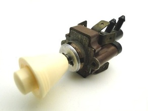 Volkswagen micro switch replacement housing for windscreen fluid, replaces air pressure switch (60's thru early 70's)