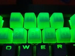 Glyphed cherry mx keycap