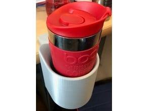 Travel mug desk holder