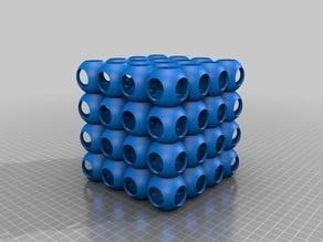 Spherical Lattice Cube No Smoothing