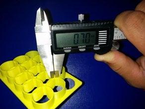 Testset Circles 0.0mm to 1.4mm