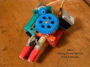 Jim's Flying Motor Mount Dual Extruder