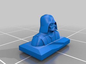 Darth Vader Bust On Plaque For 3D Printing
