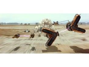 Star Wars Podrace Lithophane