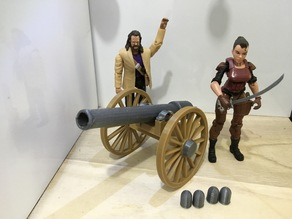 Firing Civil War Cannon (1:18 scale)