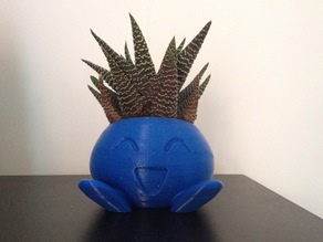 ODDRAIN : Oddish High Poly Planter [Printable without supports]
