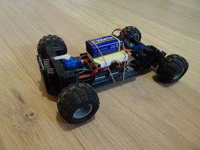 Autonomous 3D printed vehicle with obstacle avoidance function
