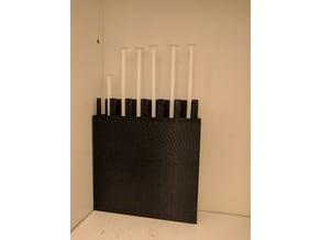 1 cc blunt capped syringe rack / case