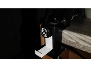 Headset Holder for articulated arm (K&M/Beyernamics)