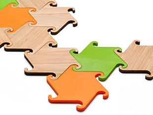 Zesch interlocking coasters