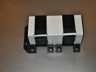 """4"""" PVC Tube Mounts- use to mount lipo battery tubes in backpack"""