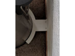 Wall protector for 12 Round Garbage can with foot petal