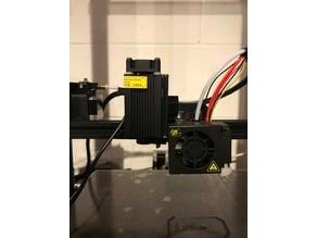 Creality CR-10 Laser/Plotter/Dremel flex shaft adapter