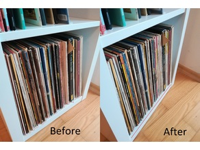 Spacer for IKEA Kallax Vinyl Storage