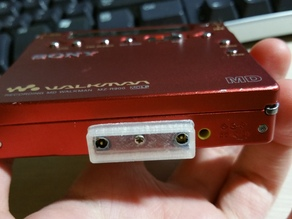 Minidisc External AA Battery Adapter