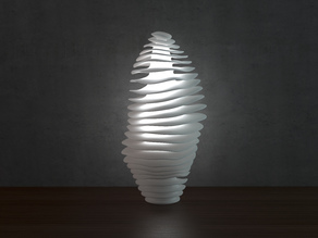 Generative design. Wave lamp 2 (LQ) version.