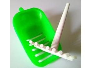 Cat litter shovel + rake kit