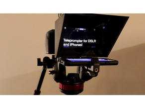 iPhone / Mobile Phone Teleprompter for DSLR Cameras