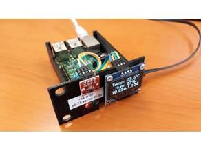 Rack Mountable Raspberry Pi B+ Case + HTU21D + SH1106