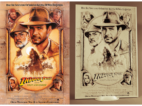 Indiana Jones y la última cruzada DIBUJO 3D