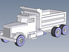 Dump Truck bed down HO Scale