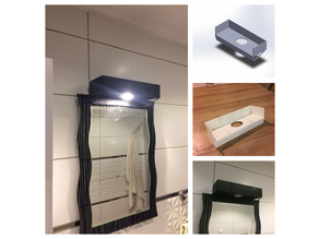 bathroom mirror spot lighting