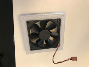 92mm to 120mm case fan adapter