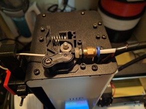 Monoprice MP select mini extruder guide for TPU