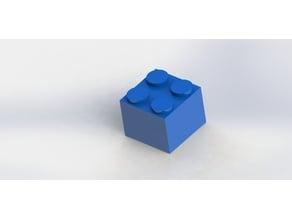 Lego square 4 knob