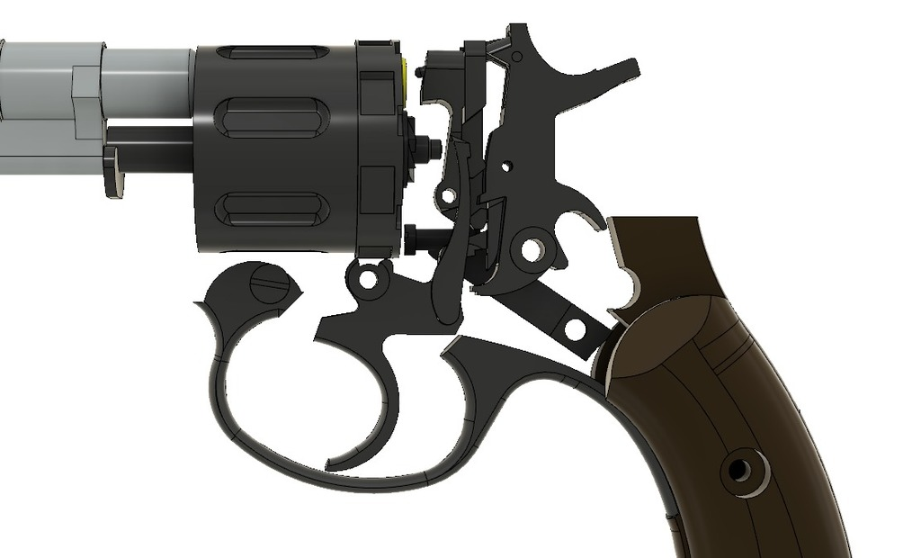 Replica Russian M1895 Revolver by awatkins1984 - Thingiverse