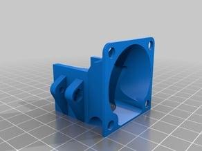 Fan holder/mount for E3D v5 on Kossel effector