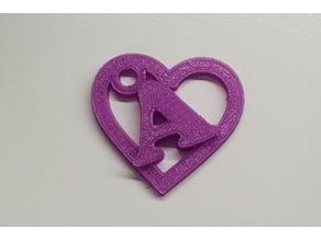 A Heart keychain