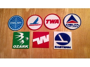 Retro Airline Logo Placards