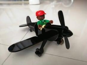 Wooden Duplo Plane Puzzle