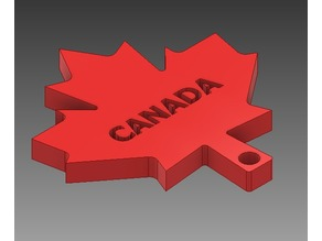 Recessed Canada Leaf Flag Keychain